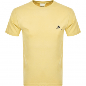 Money Crew Neck Pastel T Shirt Yellow